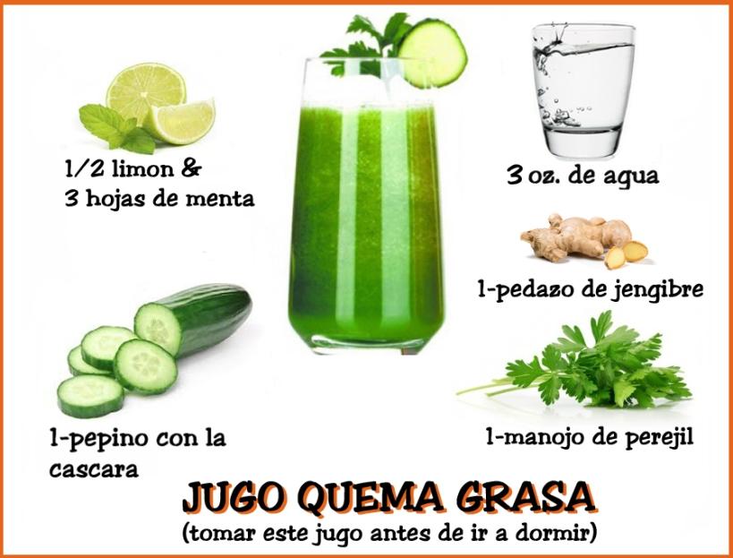 recetas naturales para bajar la grasa del abdomen
